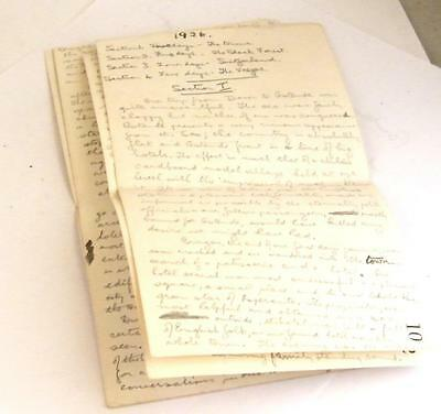 1926 Manuscript in 7 pages of trip to Switzerland from UK