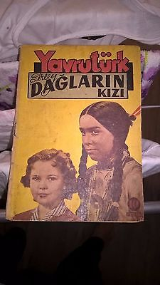 Shirley Temple 1941 Turkish Print Movie Press Book Many Photos Extremely Rare !