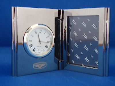 Genuine Team Bentley Motor Cars Collection Nickel Plated Picture Frame Clock