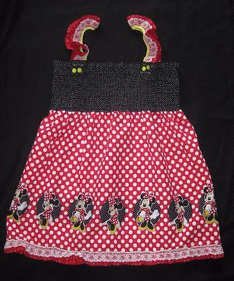 "ADULT AB DL   MINNIE MOUSE up to 42"" Smocked SUMMER Dress, by LL"