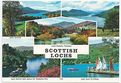 Colour  Multi-View Postcard – Scottish Lochs