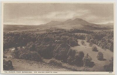 The Eildons from Bemersyde. Sir Walter Scott's View