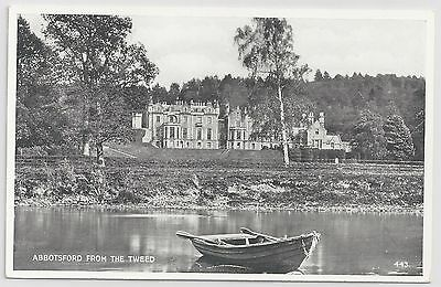 "Valentine's ""Silveresque"" Postcard – Abbotsford from the Tweed."
