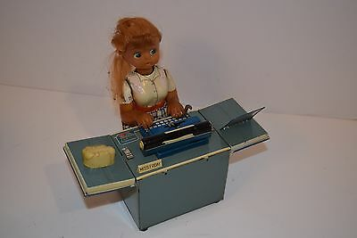 Vintage 1960's TN Japan Miss Friday Typist - Battery Operated - Working