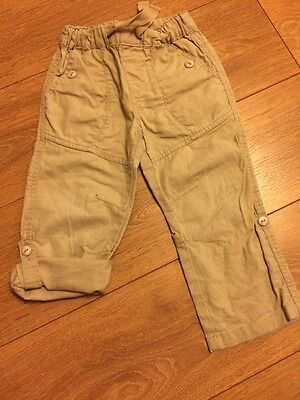 Boys Linen Blend Trousers From Next Age 2-3