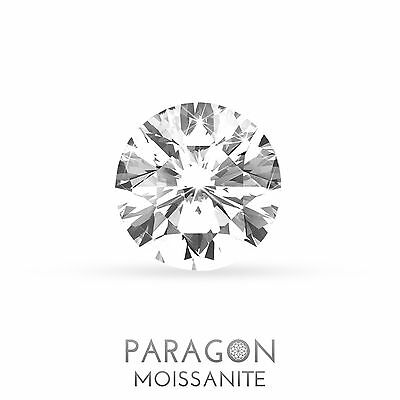 Paragon Moissanite Round Hearts & Arrows 2.0ct / 8.00mm Loose Diamond Alternat.