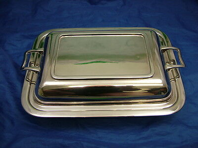H&N Ltd silver plated EPNS Lidded Entree/ Vegetable Serving Dish nice condition