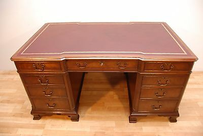 Antique Bevan Funnell Mahogany Partners Breakfront Writing Pedestal Writing desk