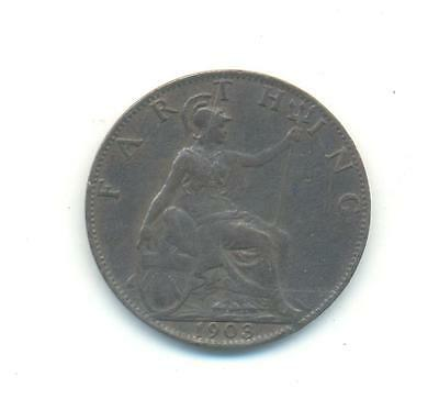 Very Nice Rare.british.farthing.1903.xf.very Collectable.e.123