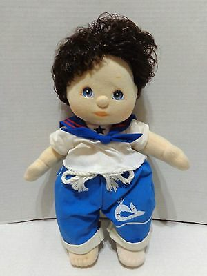Vintage Mattel My Child Boy Doll Brown Hair Blue Eyes Sailor Outfit 1985