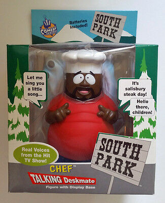 "1998 South Park *CHEF TALKING DESKMATE*  8.5"" Figure Doll Toy SEALED NIB RARE"