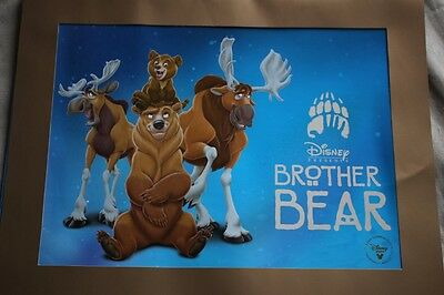 Disney Store Exclusive Lithograph Brother Bear Print in original sleeve 2004