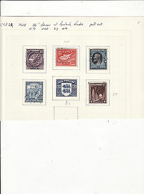 Cyprus - 1928 50Th Anniv Of British Rule Part Set Of 6 Used Except 6P Is Mm