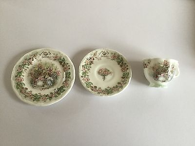 Vintage Royal Doulton Brambly Hedge Jill Barklem Summer Miniature Tea Cup Trio