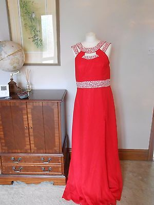 Red  Prom/evening dress size 14