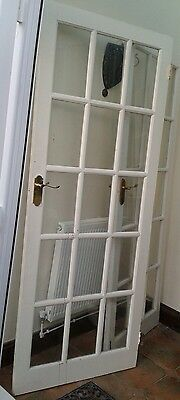 2 internal glass panel doors with hinges