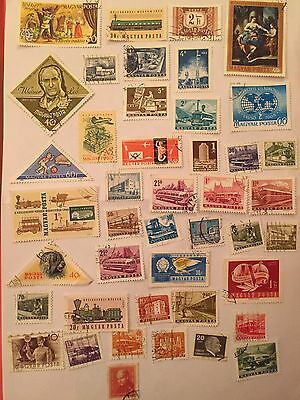 HUNGARY POSTAGE STAMPS -Hungarian Magyar Posta Mixed Stamps