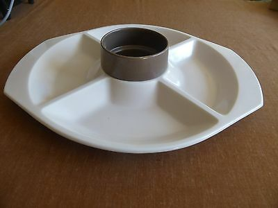 Vintage Poole Pottery Divided Serving Dish Ideal for BBQ's