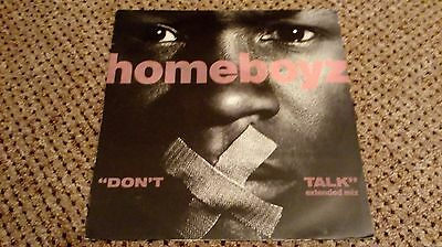 "Homeboyz - Don't Talk - 12"" vinyl single"