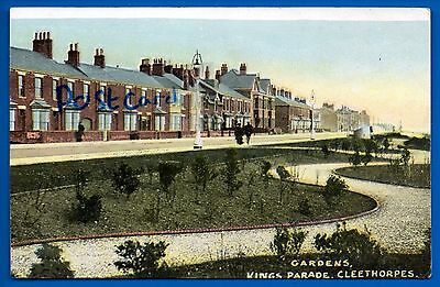 Old Postcard Kings Parade Cleethorpes Lincolnshire Nr Grimsby Brigg Scunthorpe