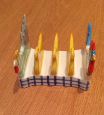 Marks and Spencer Hen And Chicken Unused Ceramic 4 Piece Toast  Rack