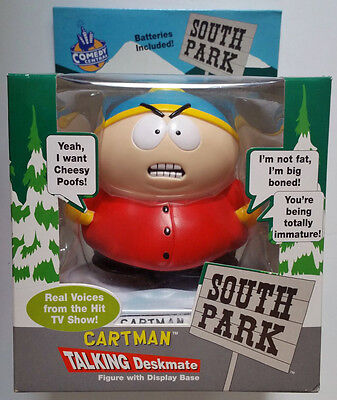 "1998 South Park *CARTMAN TALKING DESKMATE*  8.5"" Figure Doll Toy SEALED NIB RARE"