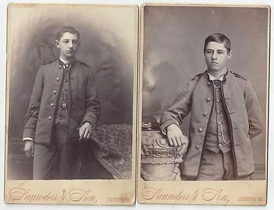 Two Family Photos Of Cadets From Lexington Missouri 1880s Cabinet Cards