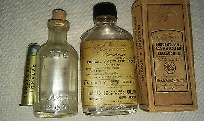 Vintage Collectible Pharmacy/Medical items