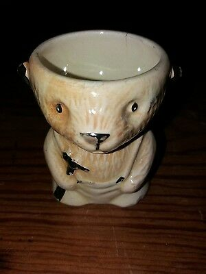 Sooty the carpenter egg cup. vintage. No. 17.