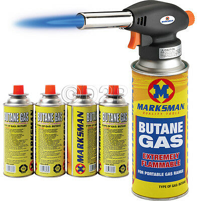 Blow Torch Butane Flamethrower Burner Welding 4 Gas Auto Ignition Soldering Weed