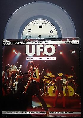 EXCELLENT++ CONDITION-UK-1979-UFO-Doctor Doctor-Ltd CLEAR Vinyl 7 inch-VALUE £12