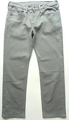 Levi's NEW nwot nwd $59.50 Mens 514 Gray Regualr Fit Straight Leg Jeans 34 x 30