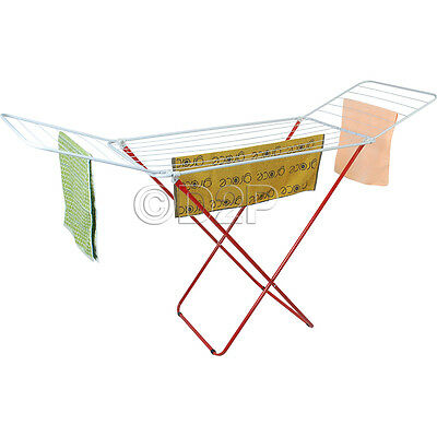 18M Cloth Dryer Rack Airer Laundry Washing Line Outdoor Folding Clothes Indoor