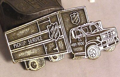 "Salvation Army - BRASS ARC ""PICK UP"" TRUCK MEDALLION"
