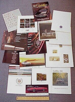 VINTAGE Cadillac Car Brochure/Catalog Lot of 15 1960s-1990s