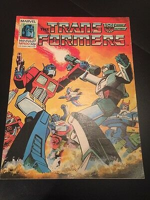 Marvel UK Transformers G1 Anniversary Issue Number 100 February 1987