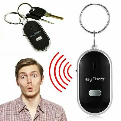 Whistle Lost Key Finder Flashing Beeping Locator Remote Chain Led Sonic Torch An