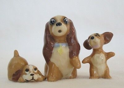 1950's Hagen Renaker Disney Lady and the Tramp set of 3