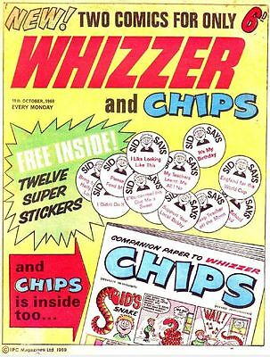 Uk Comics Whizzer And Chips Humour Comics Digital Collection 300+ Issues