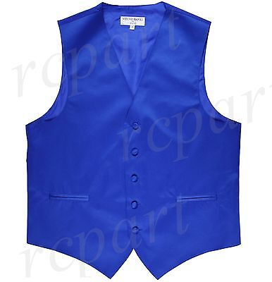 New Man Tuxedo Waistcoat Royal blue Vest only Formal Wedding Party Prom
