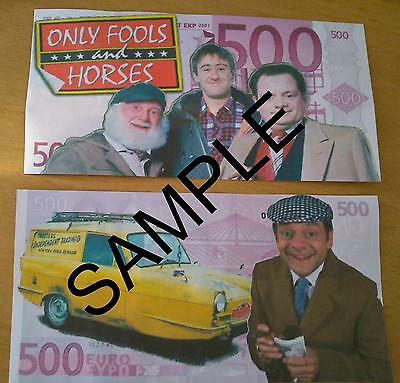 Novelty 500/million Euro Bank Note Personalised Kids Party Birthdays Banknote
