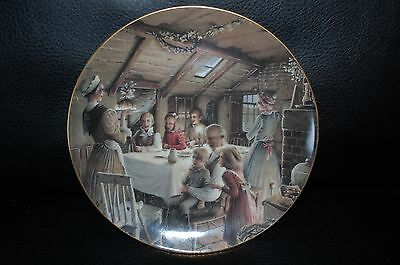 Dept 56 The Cratchit's Christmas Pudding Plate Signed