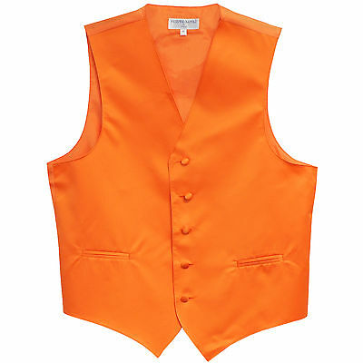 New Man Tuxedo Waistcoat Orange Vest only Formal Wedding Party Prom