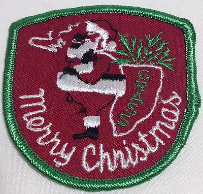 Adult Merry Christmas Patch Pot Smoking Santa Grass Biker Humorous