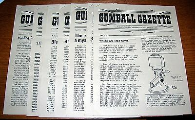 Gumball Gazette Issues 12-18 Vintage Coin-Op Vending Machines Book Penny