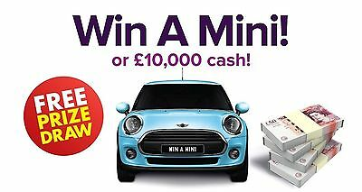Win The Mini 2018 Or £10.000 Cash GENUINE DRAW Only Need An Email Address To Win