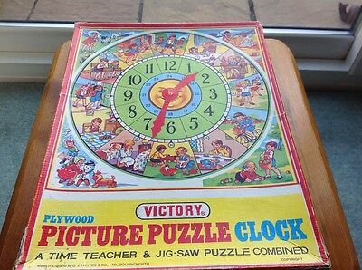 Victory plywood picture puzzle clock age 3-5