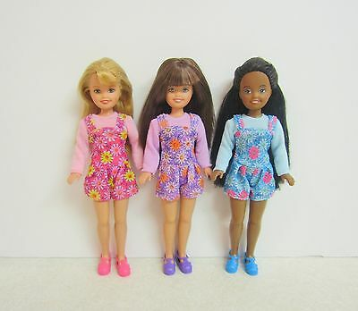 Let's Camp Stacie with Whitney & Janet in Pink Purple & Blue Rompers with Shoes