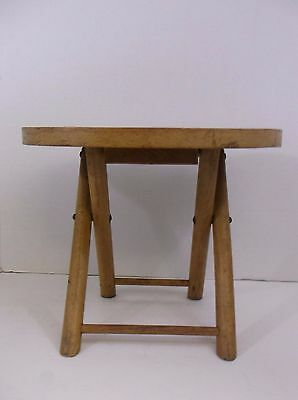 Vintage Nevco Fold n Carry Wood Stool