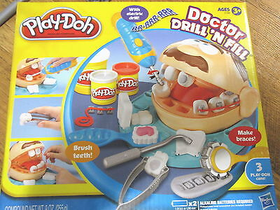 Play-Doh Doctor Drill 'n Fill Play Set Complete Dentist Drill And Fill Teeth
